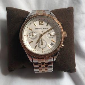 Michael Kors Tri Tone Watch MK-6131